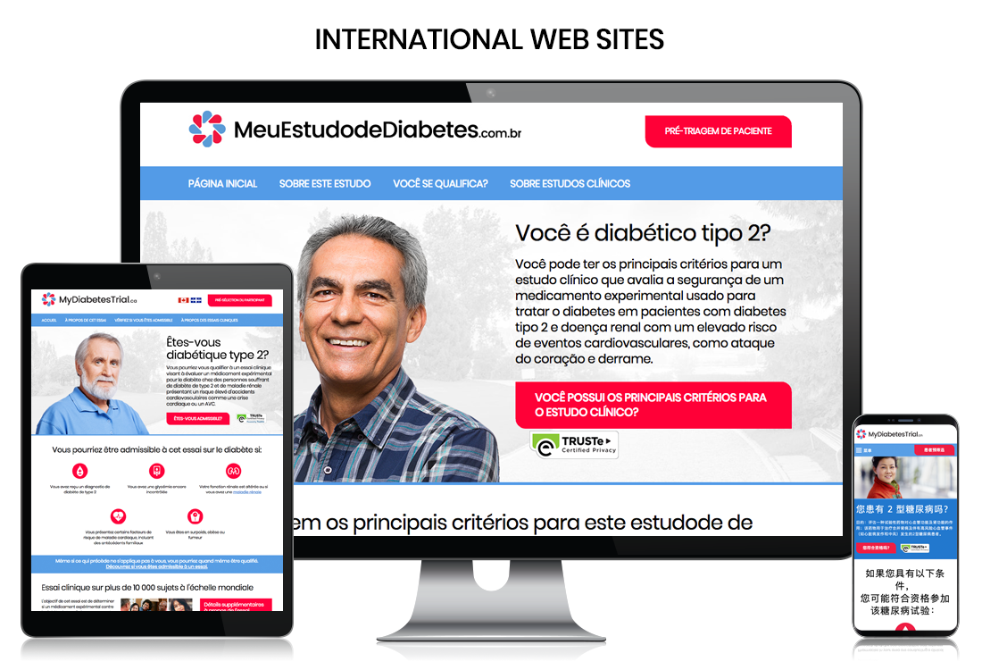 International Websites, global clinical trials, type 2 diabetes